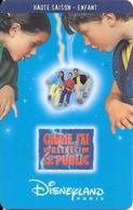 PASS--DISNEY-DISNEYLAND PARIS-1999-CHERIE J AI RETRECI LE PUBLIC-ENFANT-GEMPLUS-99/01/HOE-VALIDE 1 JOUR-TBE-RARE - Toegangsticket Disney