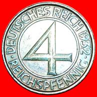 + RARE: GERMANY ★ 4 PFENNIG 1932D! LOW START ★ NO RESERVE! - [ 3] 1918-1933 : Weimar Republic