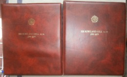 Rowland Hill  Comonwealth Mint Collection Housed Two Beautiful Bound Albums With Matching Leaves 95% Plus Complete - Stamps