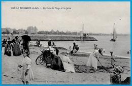 CPA 44 LE POULIGUEN - Un Coin De Plage Et La Jetée ° Collection E. Poulain N° 3008 - Le Pouliguen