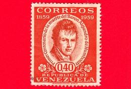 VENEZUELA - Usato - 1960 - 100 Anni Della Morte Di Alexander Von Humboldt (1959) - 0.40 - Venezuela