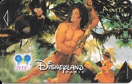 PASS-DISNEY-DISNEYLAND PARIS-2000-TARZAN-V° NARBONI-00/06/TAR-Expire Le 19/07/00 Forfait Package--TBE - Toegangsticket Disney