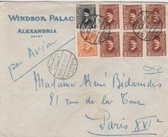 Egypte Lettre Windsor Palace Alexandria Pour La France 1933 - Egypt