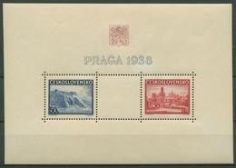 Tschechoslowakei 1938 PRAGA Karlsbrücke Hradschin Block 4 Postfrisch (C91843) - Blocks & Sheetlets