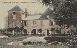 Puy De Dome : SAINT-PRIEST-BRAMEFANT Chateau De Guérinet ( Toilée ) Au Dos Tampon Perlé - LACHAUX - Puy De Dome - France