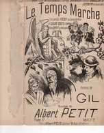 CAF CONC ROMANCE PARTITION LE TEMPS MARCHE GIL ALBERT PETIT AZAN 1899 ILL ALLÉGORIE LA FAUX LA MORT LE SABLIER - Sonstige