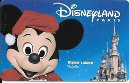 PASS--DISNEYLAND-MICKEY-A DULTE-BASSE SAISON-ISRA-98101MBS- Valide1 Jour Saison Basse-TB E - Toegangsticket Disney