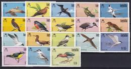 Anguilla 1985 Mi.-Nr. 644-660 Satz Postfrisch ** / MNH Vögel  - Anguilla (1968-...)