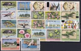 Anguilla 1980 Mi.-Nr. 396-399 Satz Postfrisch ** / MNH Weihnachten 1980, Vögel - Anguilla (1968-...)