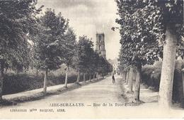 AIRE SUR LA LYS -RUE DE LA TOUR BLANCHE    CARTE ANIMEE  1932 - Aire Sur La Lys