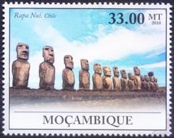 UNESCO World Heritage Site - Rapa Nui In Chile, Mozambique 2010 MNH    ( - Architecture