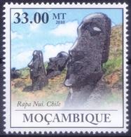 UNESCO World Heritage Site - Rapa Nui Of Chile, Mozambique 2010 MNH  ( - Architecture