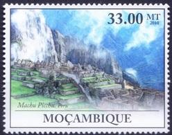 UNESCO World Heritage Site Machu Picchu In Peru, Mozambique 2010 MNH  ( - Architecture
