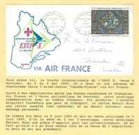EXUP-X, Montréal 1965. Cathédrale De Sens, YT 1427, Premier Jour. Union Philatélique De Montréal (6841) - Covers & Documents
