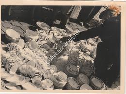 Photographie Argentique Après Guerre - Bruxelles - Vieux Marché - Place Du Jeu De Balle - Services Boch - Luoghi