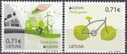 Lietuva 2016 Europa CEPT Pensez En Vert Neuf ** - Lituanie