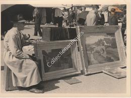 Photographie Argentique Après Guerre - Bruxelles - Vieux Marché - Place Du Jeu De Balle - Huiles Sur Toiles - Luoghi