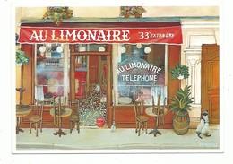 CPM Galerie Naifs Et Primitifs Monique Valdeneige Au Limonaire Café Telephone - Peintures & Tableaux