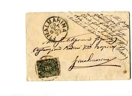 STORIA POSTALE-REGNO D'ITALIA-RE UMBERTO-1 Da 5 Cent.-VERDE SCURO-1893-FINALMARINA- - Post