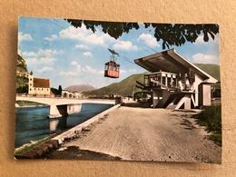 TRENTO PARTENZA FUNIVIA CON CHIESA S. APOLLINARE  1965 - Trento