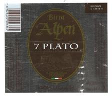 ITALIA - Etichetta Birra Beer Bière ALPEN 7 PLATO - Birra