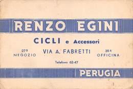 """08402 """"RENZO EGINI - CICLI ED ACCESSORI - PERUGIA"""" CART. ORIG. NON SPED. - Cartoline"""