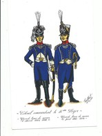 CPM Militaria Uniforme Colonel Commandant Le 16 ème Leger Carte Publicitaire Groupama Illustrateur à Identifier - Uniformes