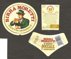 ITALIA - Etichetta Birra Beer Bière MORETTI Con NUOVO BOCCALE - Birra