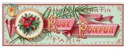 Etiquette Ancienne Savon Extra Fin - Rose Pompom - Paris - Voir Scan - Etiquettes