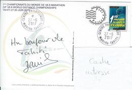 13043 PAP  1er Championnat Du Monde De VA'A Marathon - MAHINA - TAHITI - POLYNÉSIE FRANÇAISE - Lettres & Documents