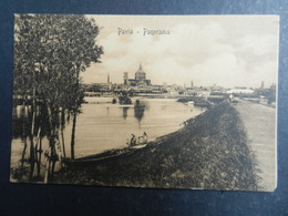 19965) PAVIA PANORAMA LUNGO FIUME VIAGGIATA 1910 - Pavia
