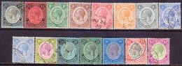British Honduras 1922-37 SG #124-37 Compl.set Used Incl. 131a And Unlisted Shade Of 25c CV £500+ - British Honduras (...-1970)