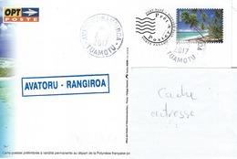 13044 PAP  AVAROTU - RANGIROA - TUAMOTU - POLYNÉSIE FRANÇAISE - Lettres & Documents