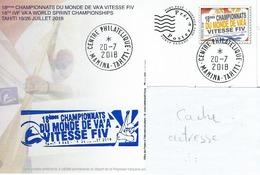 13045 PAP 18é Championnat Du Monde De VA'A Vitesse - TAHITI   - POLYNÉSIE FRANÇAISE - Lettres & Documents