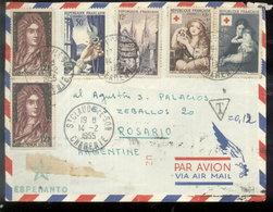 FRANCIA - SOBRE CIRCULADO  ST.CLAUD/ROSARIO CINDERELLA - ESPERANTO (ARG.) 1955 (#5029) - 1921-1960: Modern Period