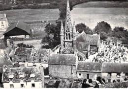29 - KERLAZ Vue Aérienne ( Eglise Et Petit Cimetière ) CPSM Village (815 Habitants) Dentelée N/B GF 1961 - Finistère - France