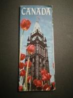 CANADA Illustré Par William Parlane Beau Dépliant Touristique Ancien - Dépliants Touristiques