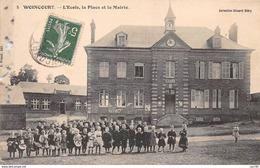 80.n°59409.woincourt.l'école La Place Et La Mairie.en Etat - Other Municipalities