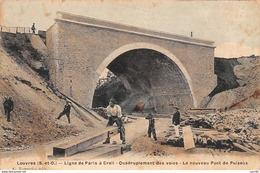 95.n°59619.louvres.ligne De Paris à Creil.quadruplement Des Voies.le Nouveau Pont De Puiseux - Louvres
