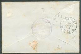 E.P. Enveloppe-lettre Typr Em. 1884 à 10 Centimes, Obl. Sc BRUXELLES 5 Du 28 Sept. 1893 Vers KNOCKE *. - 14517 - Marcofilia