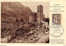 Andorre.n°57841.st Joan De Casellas.carte Maximum - Andorre