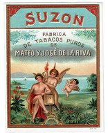 Cigar Box Label / Ancienne étiquette Boite De Cigares Gaufrée - SUZON - Matéo José De La Riva - DEP N° 94 - 3 Scans - Etiquettes