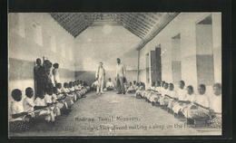 AK Madras Tamil-Mission, Mädchen Beim Klöppeln - Unclassified