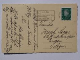 1931 DR Postkarte Pmk Fahrt Mit Schwebebahn Auf Schauinsland - Germany