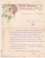 Fattura Comm. - Grande Brasserie De Champigneulles, Nancy  -  Edit Arts Graphiques, Nancy  - Formato Cm.21,0 X 27,3 - Sport & Turismo