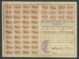 Deutshland 1912-1913 ELSASS-LOTHRINGEN ALSACE LORRAINE Social Tax Sozialversicherung - Germany