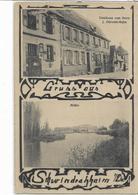 67 SCHWINDRATZHEIM . Bonjour En 2 Clichés , Café Zum Stern , De Mr J Obrech-Kuhn , édit : R Fleischel , état Extra - Frankrijk