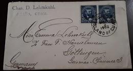O) 1902 GUAM, US POSSESSIONS, AGAÑA GUAM, ISLAND OF GUAM, JAMES A. GARFIELD 5c, TO GERMANY, XF - Guam