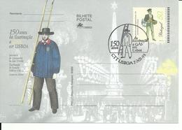 Portugal 1998 - Stationery 150 Years Gas Lighting In Lisboa, First Day Cancel - Postwaardestukken