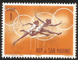 V) 1963 SAN MARINO, PUBLICITY FOR 1964 OLYMPIC GAMES, MNH - San Marino